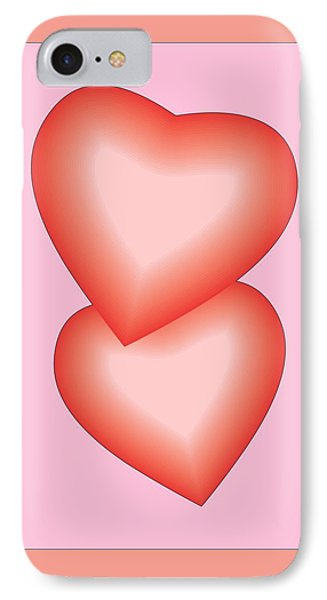 Valentine Hearts IPhone Case by Sherril Porter
