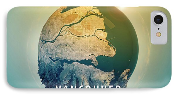 Vancouver 3d Little Planet 360-degree Sphere Panorama IPhone Case