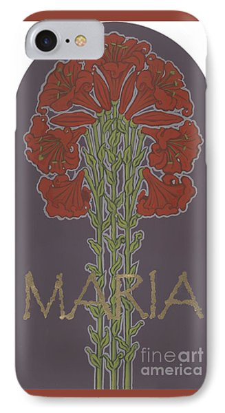 IPhone Case featuring the painting Variation On Our Lady Of Sorrows 236 by William Hart McNichols