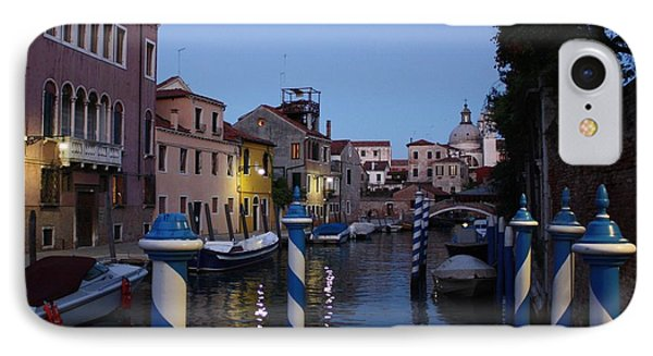 Venice At Night IPhone Case by Pat Purdy