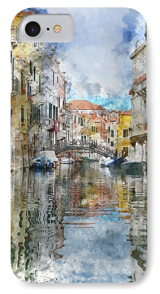 Venice Italy Canals With Colorful Buildings IPhone Case by Brandon Bourdages