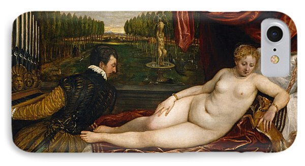Venus With An Organist And A Dog IPhone Case