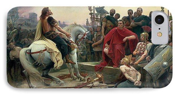 Vercingetorix Throws Down His Arms At The Feet Of Julius Caesar IPhone Case by Lionel-Noel Royer