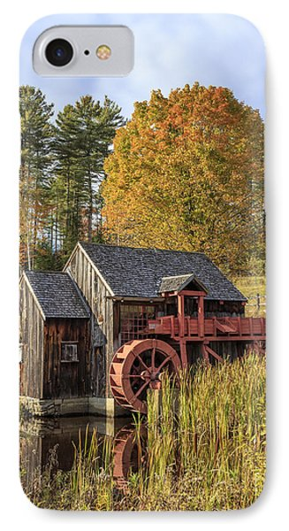 IPhone Case featuring the photograph Vermont Grist Mill by Edward Fielding