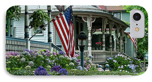 Victorian House And Garden. Phone Case by John Greim