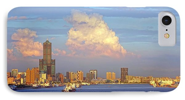 IPhone Case featuring the photograph View Of Kaohsiung City At Sunset Time by Yali Shi