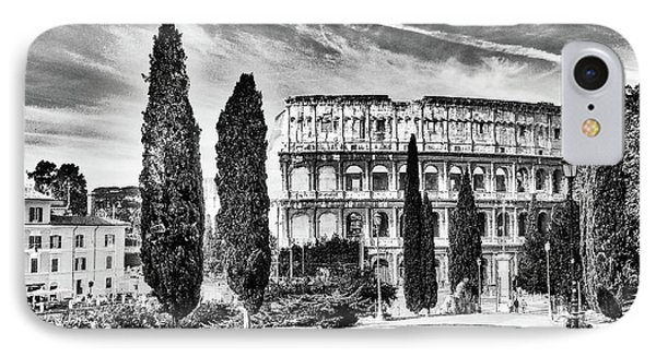 View Of The Back Of The Coliseum Early On A Sunny Summer Morning IPhone Case