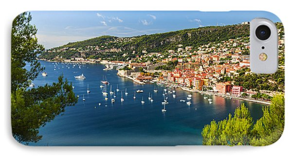 Villefranche-sur-mer And Cap De Nice On French Riviera IPhone Case by Elena Elisseeva