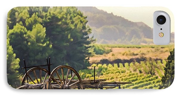 vineyard in France IPhone Case by Elly De vries