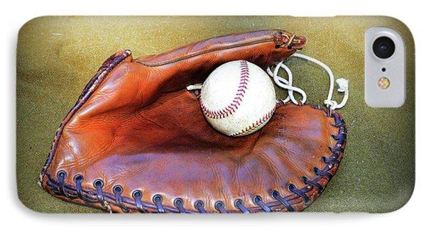 Vintage Baseball Glove IPhone Case by Paul Ward