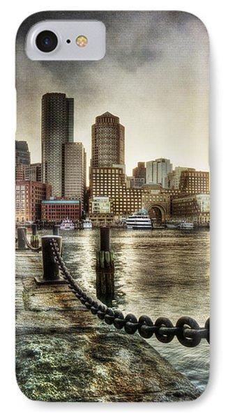 Vintage Boston Skyline IPhone Case by Joann Vitali