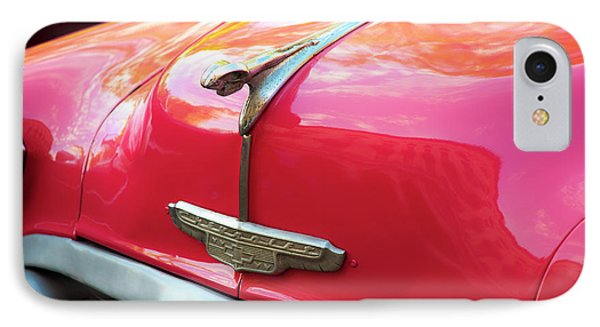 Vintage Chevy Hood Ornament Havana Cuba IPhone Case by Charles Harden