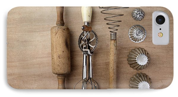 Vintage Cooking Utensils IPhone Case by Nailia Schwarz