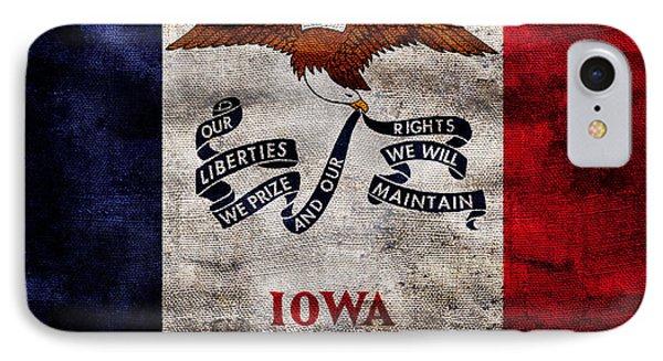 Vintage Iowa Flag IPhone Case by Jon Neidert