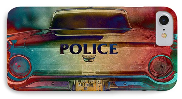 Vintage Police Car - Baltimore, Maryland IPhone Case