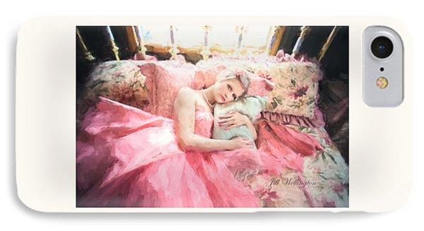 Vintage Val Bedroom Dreams IPhone Case by Jill Wellington