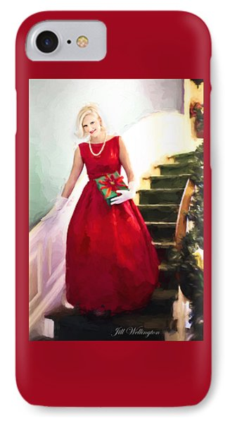 Vintage Val Home For The Holidays IPhone Case by Jill Wellington