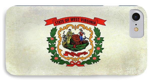 Vintage West Virginia Flag IPhone Case by Jon Neidert