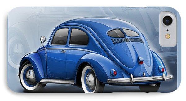 Volkswagen Beetle Vw 1948 Blue IPhone Case