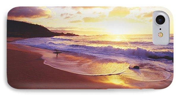 Waimea Bay Sunset Phone Case by Bob Abraham - Printscapes