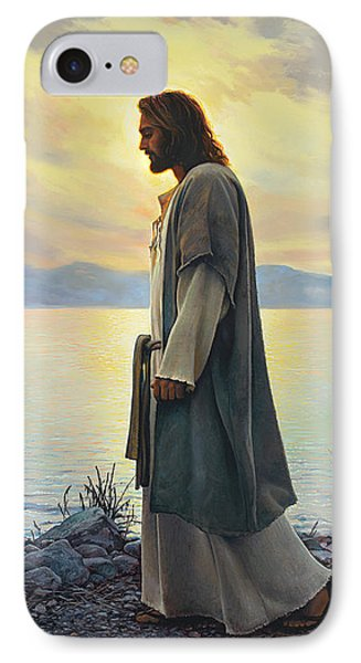 Beach iPhone 7 Case - Walk With Me  by Greg Olsen