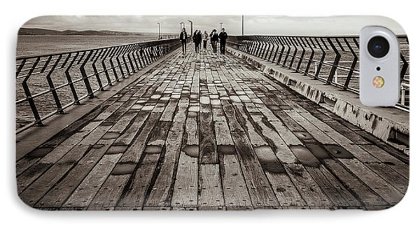 IPhone Case featuring the photograph Walking The Pier by Perry Webster
