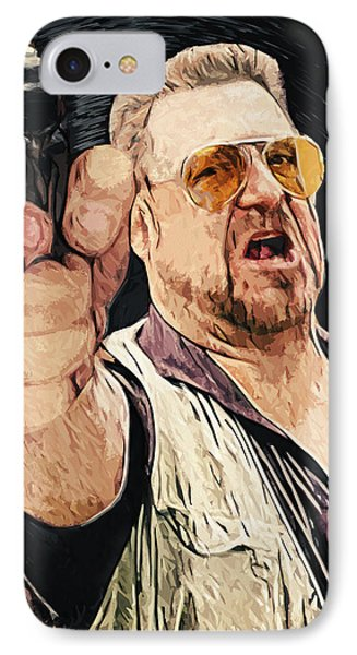 Walter Sobchak IPhone Case by Taylan Apukovska