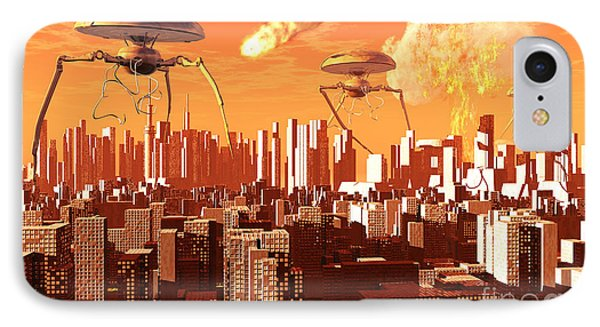 War Of The Worlds IPhone Case by Mark Stevenson