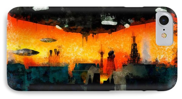 War Of The Worlds IPhone Case by Esoterica Art Agency