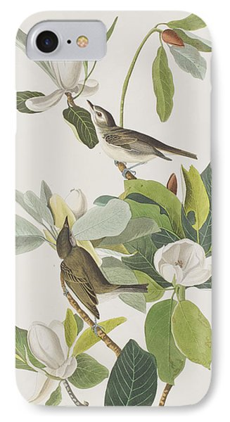 Warbling Flycatcher IPhone 7 Case by John James Audubon