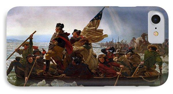 George Washington iPhone 7 Case - Washington Crossing The Delaware by Emanuel Leutze