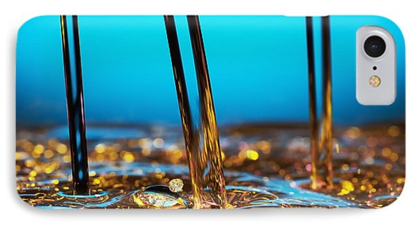 Water And Oil Phone Case by Setsiri Silapasuwanchai
