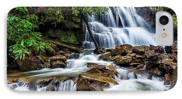 Waterfall And Rhododendron IPhone Case by Thomas R Fletcher