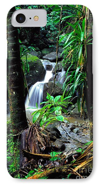 Waterfall El Yunque National Forest Phone Case by Thomas R Fletcher