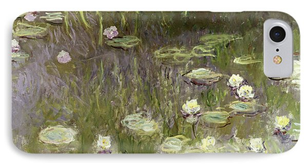 Waterlilies At Midday IPhone Case by Claude Monet