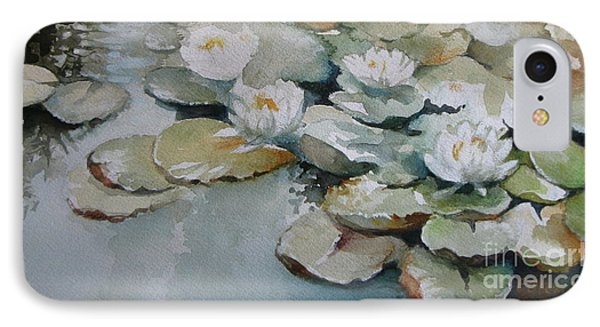 IPhone Case featuring the painting Waterlilies by Elena Oleniuc