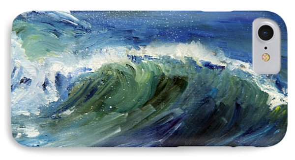 Wave Action IPhone Case by Michael Helfen