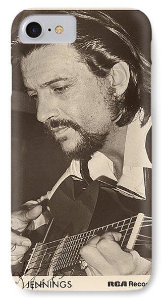 Waylon Jennings 1971 Signed IPhone Case