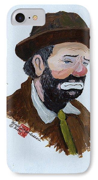 Weary Willie The Clown Phone Case by Arlene  Wright-Correll