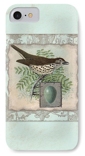 Welcome To Our Nest - Vintage Bird W Egg IPhone 7 Case by Audrey Jeanne Roberts