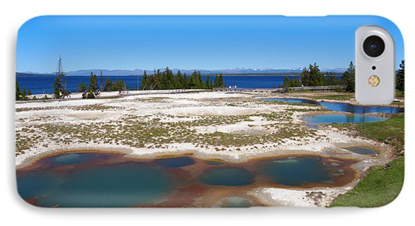 West Thumb Geyser Basin In Yellowstone National Park Phone Case by Louise Heusinkveld
