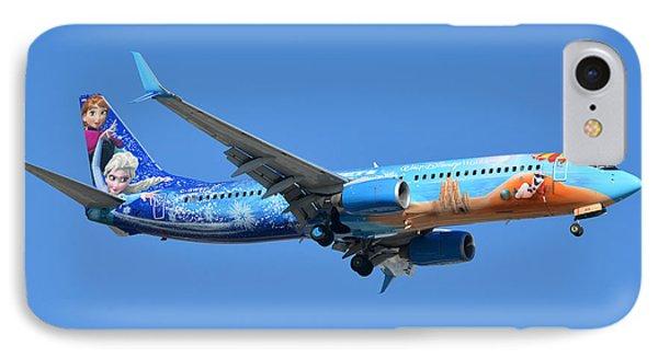 Westjet Boeing 737-8ct C-gwsv Frozen Phoenix Sky Harbor January 29 2016 Phone Case by Brian Lockett