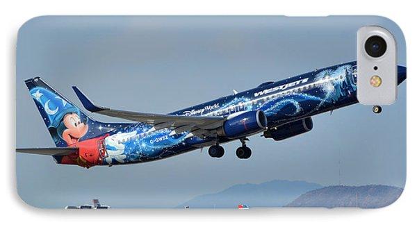 Westjet Boeing 737-8ct C-gwsz Magic Plane Phoenix Sky Harbor January 22 2016 Phone Case by Brian Lockett