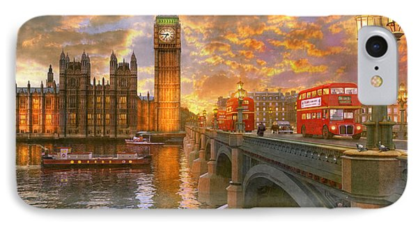Westminster Sunset IPhone Case by Dominic Davison