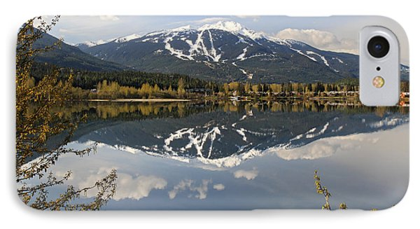 Whistler Blackcomb Green Lake Reflection Phone Case by Pierre Leclerc Photography