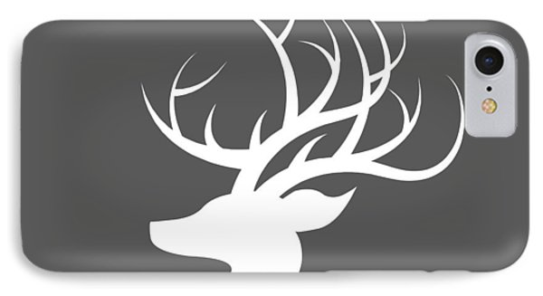 White Deer Silhouette IPhone Case by Chastity Hoff