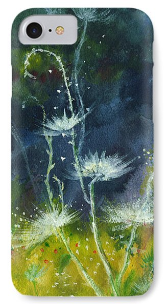 White Flowers 2 IPhone Case by Anil Nene