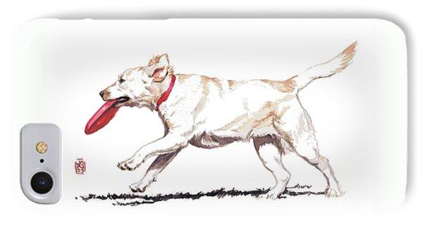 White Frisbee Dog IPhone Case