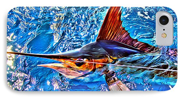 White Marlin IPhone Case by Carey Chen