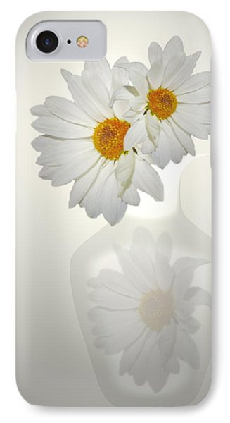 White On White Daisies Phone Case by Joyce Dickens